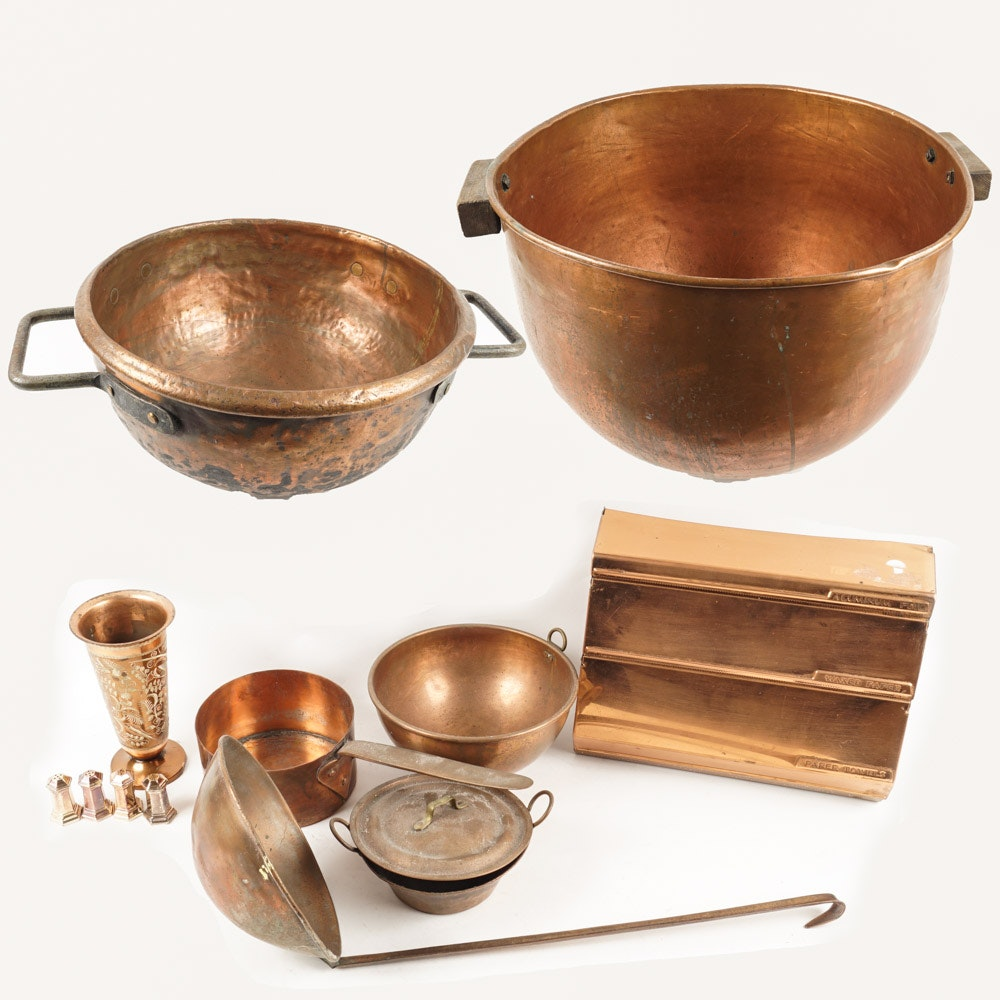Copper Pots and other Kitchenware