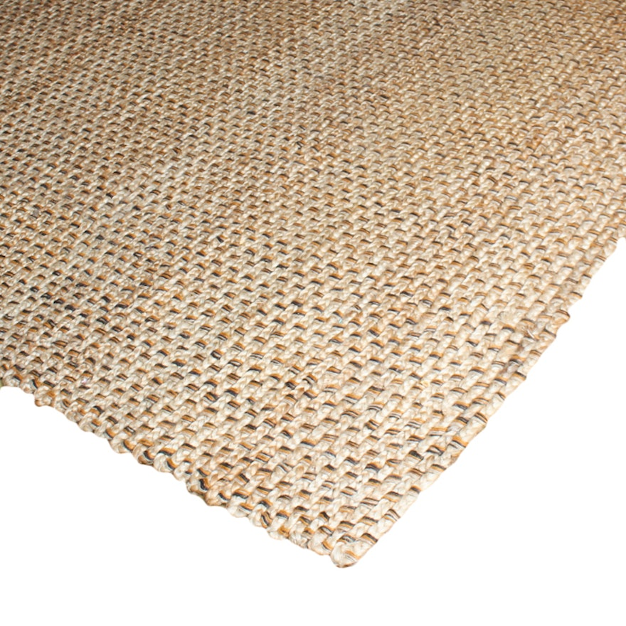 Large braided jute rug by home decorators