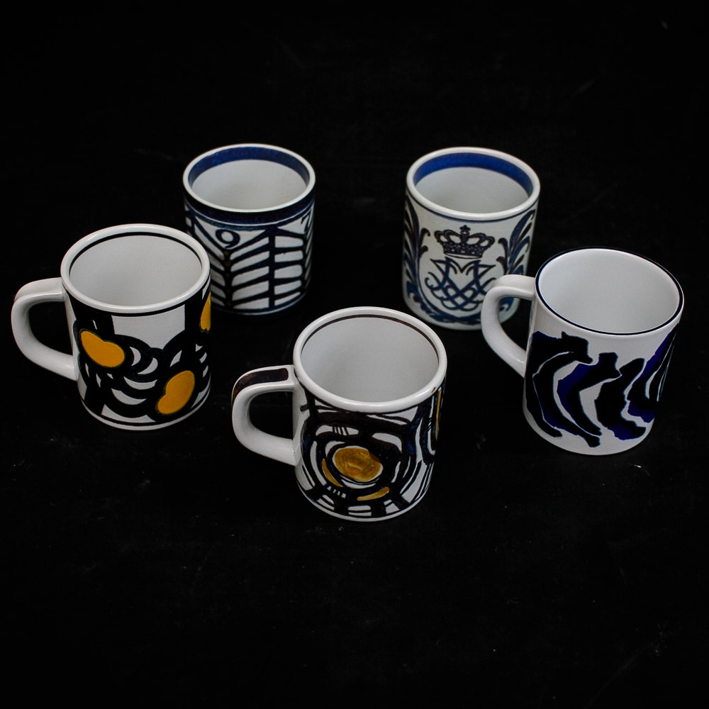 Assortment of Royal Copenhagen Porcelain Mugs
