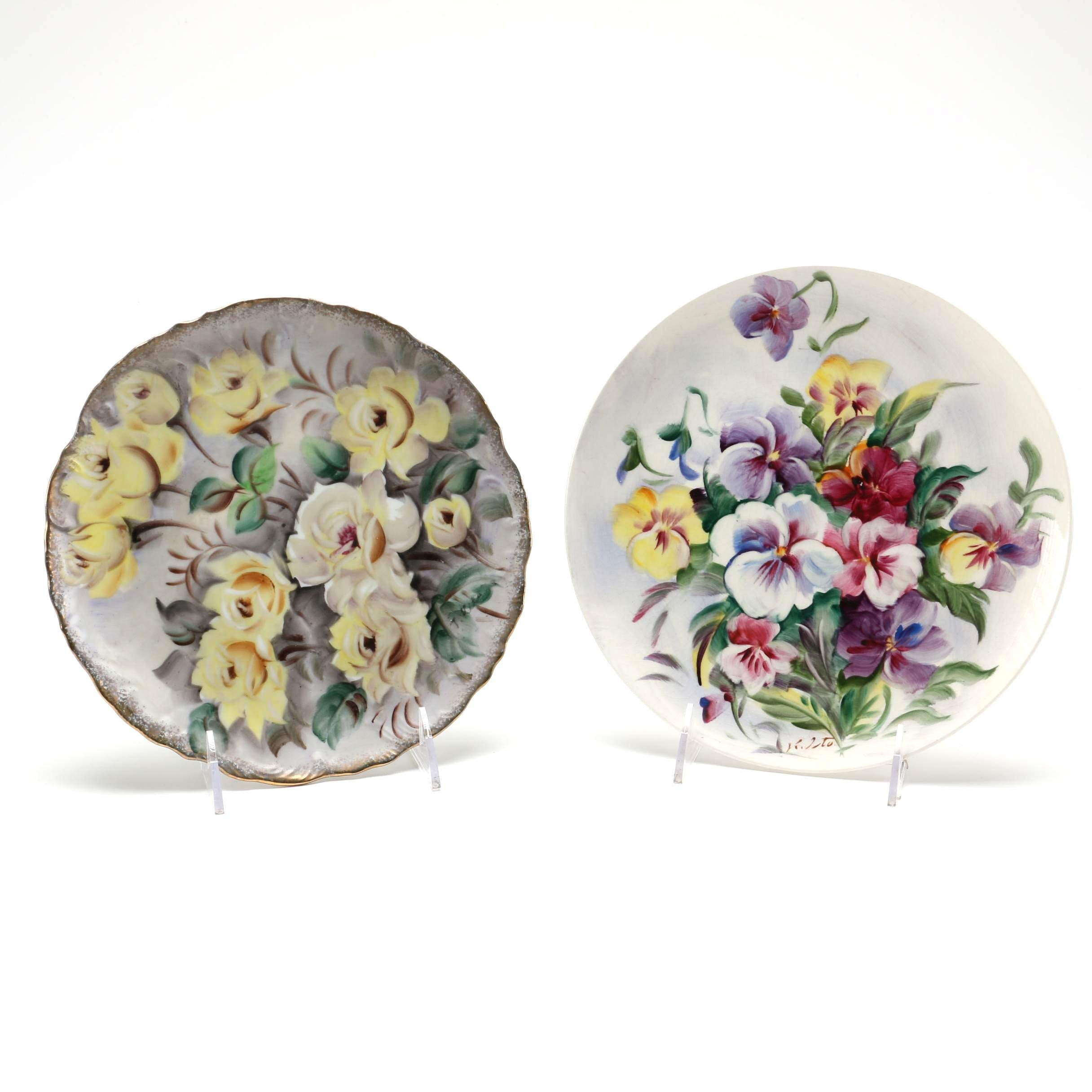 Pair of Hand Painted Ucagco Plates