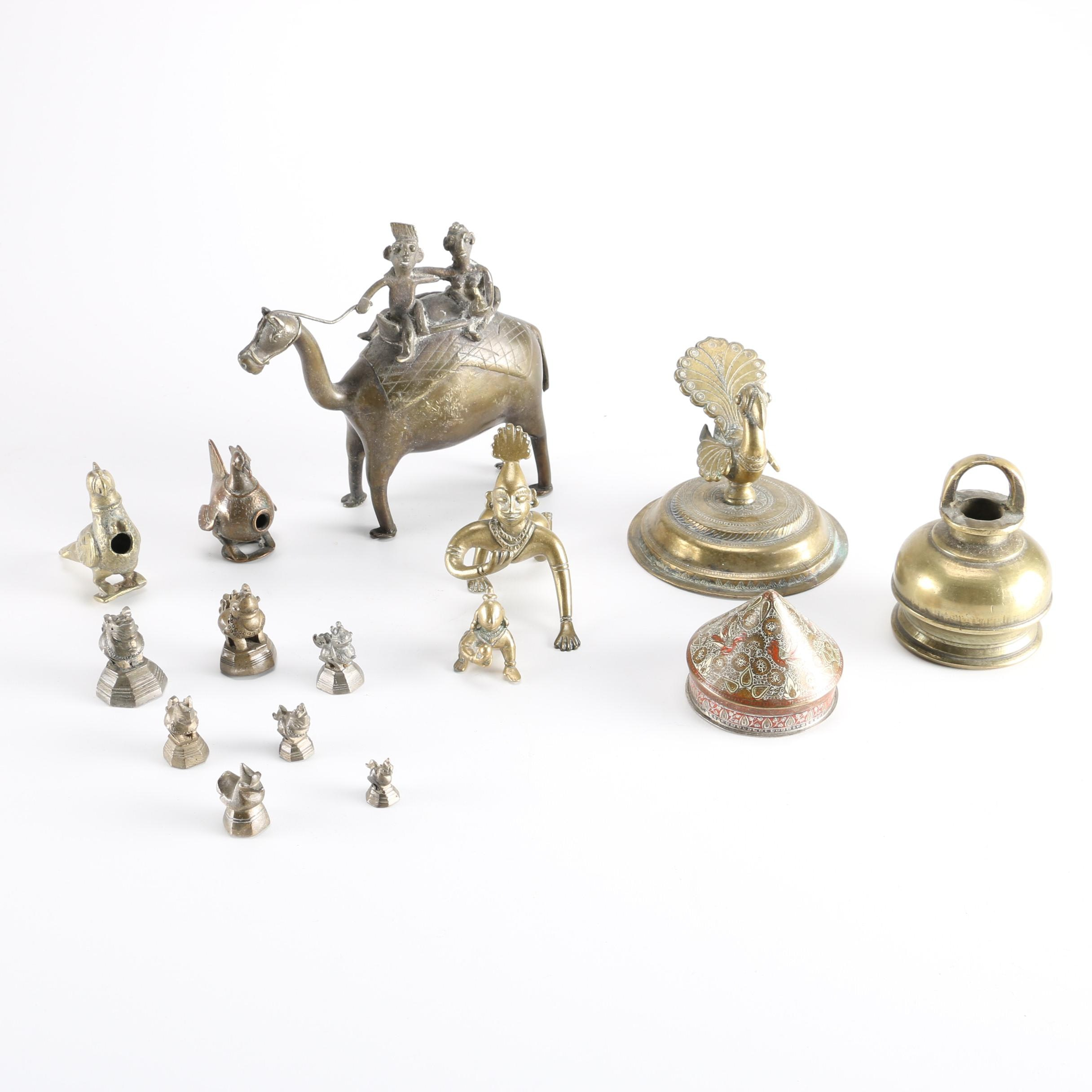 Assortment of Brass Figures