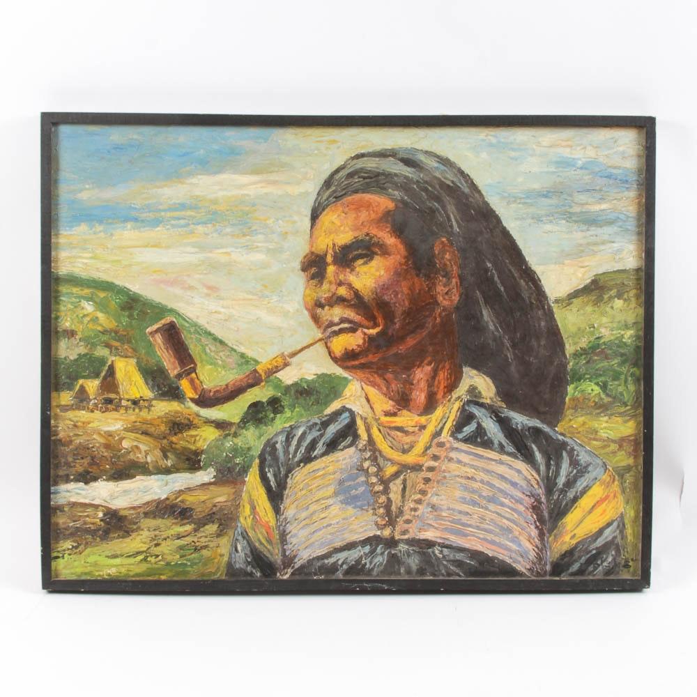 Original Impasto Painting on Canvas