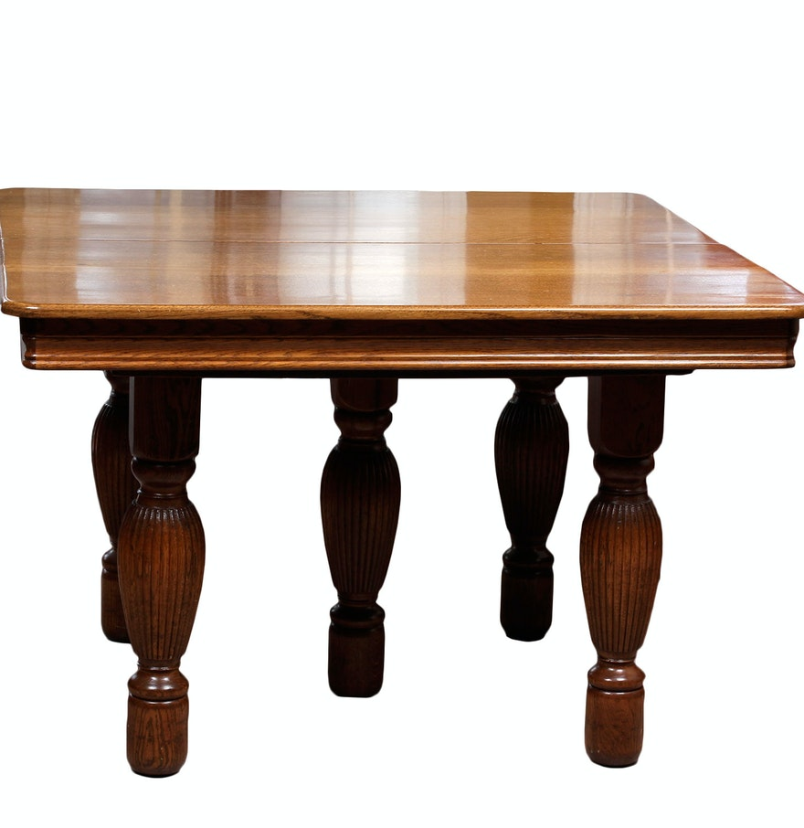 vintage wooden dining room table ebth