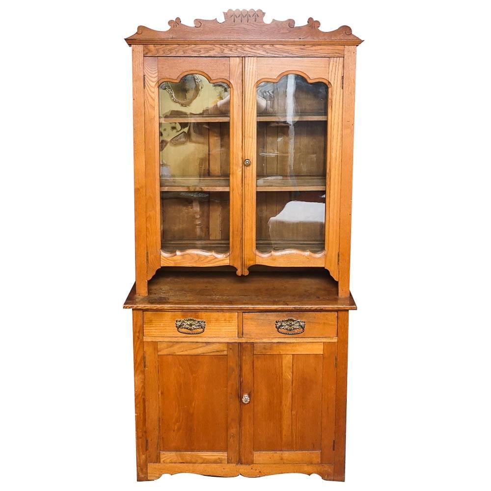 Eastlake Oak Cupboard