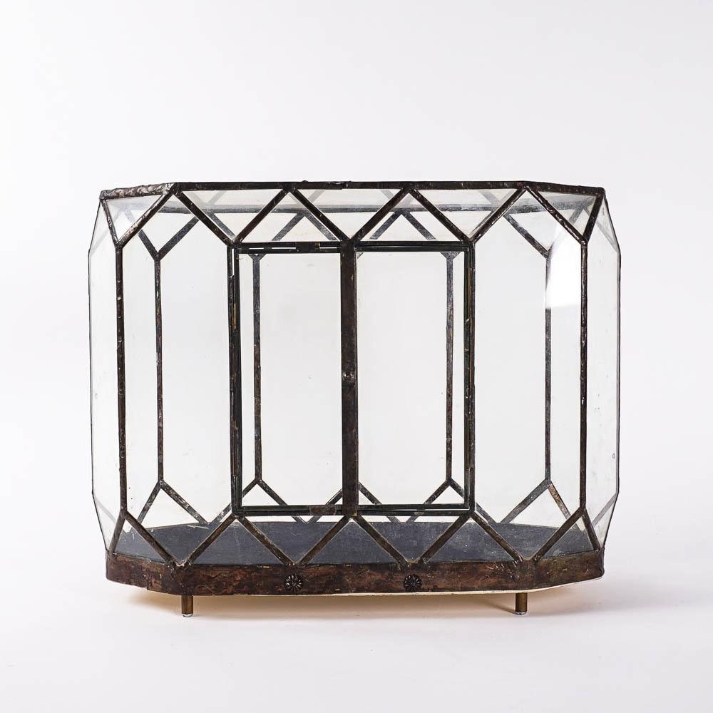 Vintage Glass And Metal Terrarium Ebth
