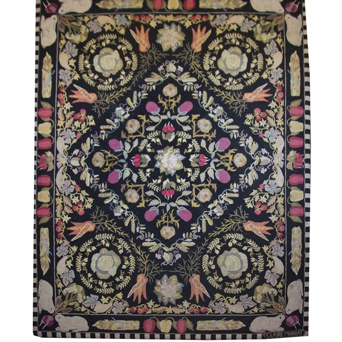 Whimsical Claire Murray Hooked Area Rug Ebth