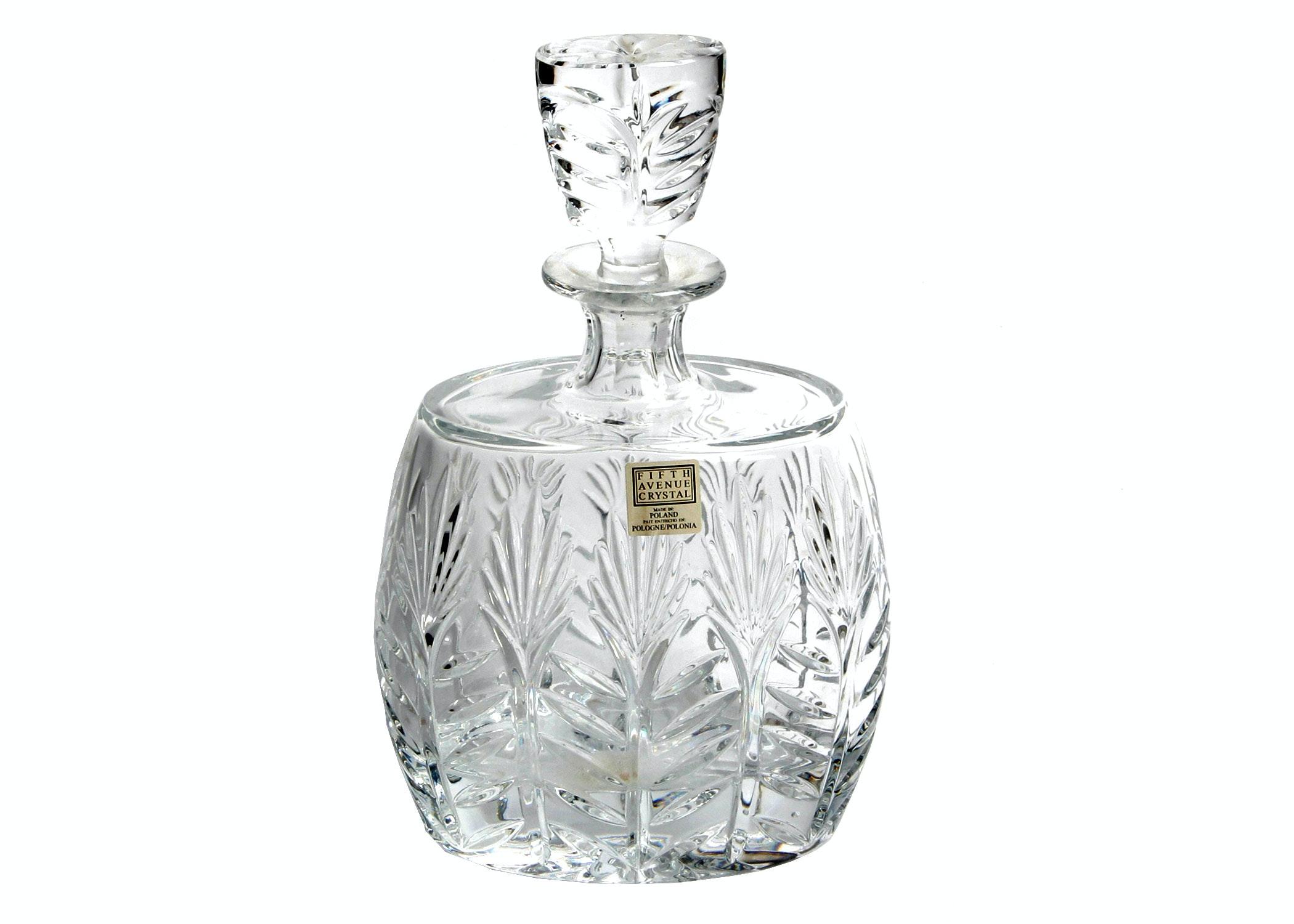 fifth avenue poland crystal decanter