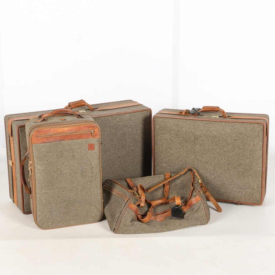 ba9f45088973 Hartman Green Tweed Luggage Set   EBTH