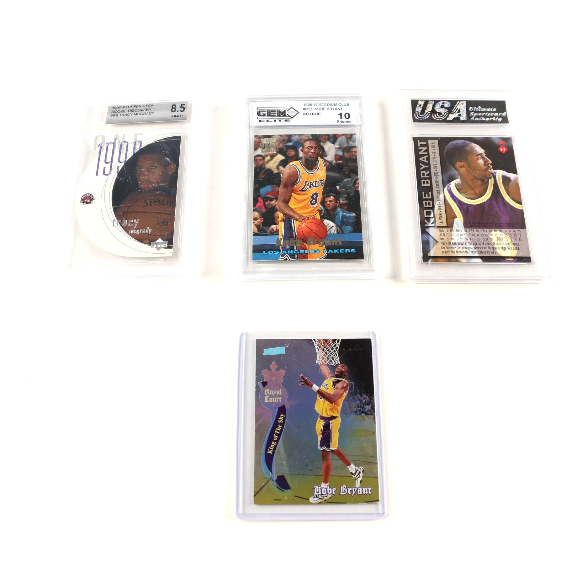Kobe Bryant and Tracy McGrady Basketball Cards