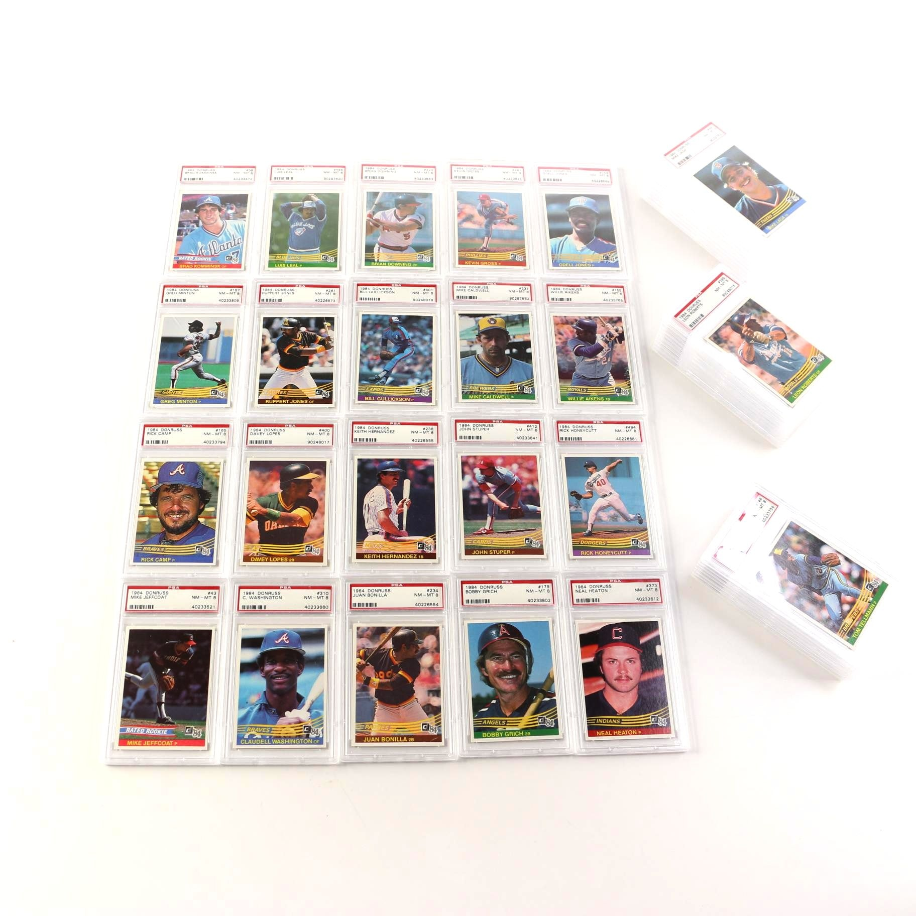Collection of 1984 Donruss Baseball Cards