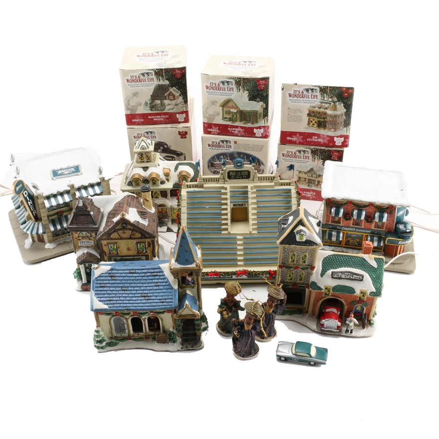 Hawthorne Village And It 39 S A Wonderful Life Christmas Collectibles Ebth
