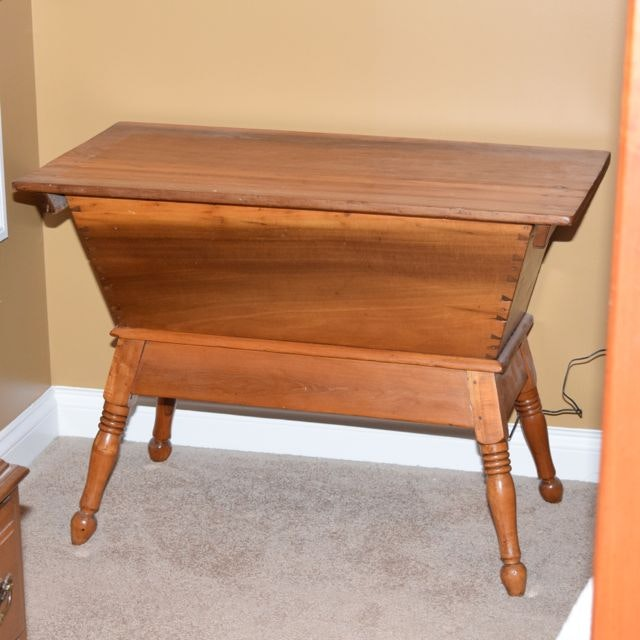 Antique Footed Dough Box