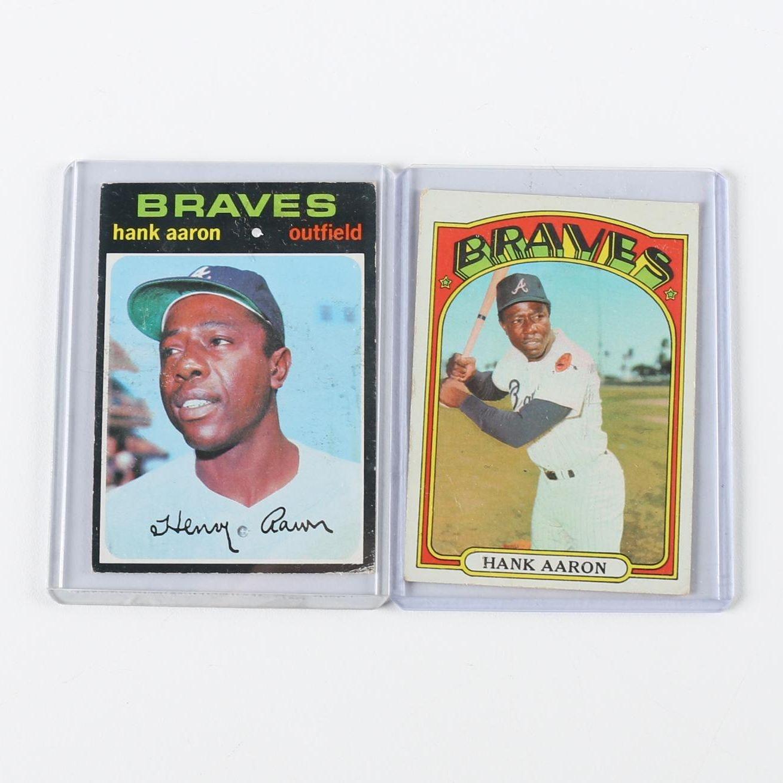 1971 and 1972 Hank Aaron Topps Baseball Cards