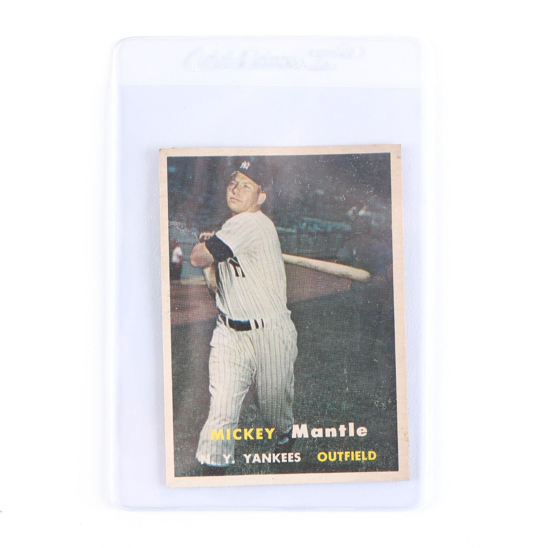 1957 Mickey Mantle Topps Card