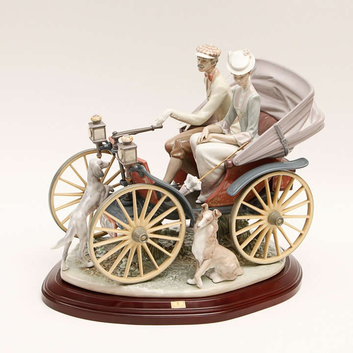 """Signed Limited Edition Lladró """"A Sunday Drive"""" Figurine"""