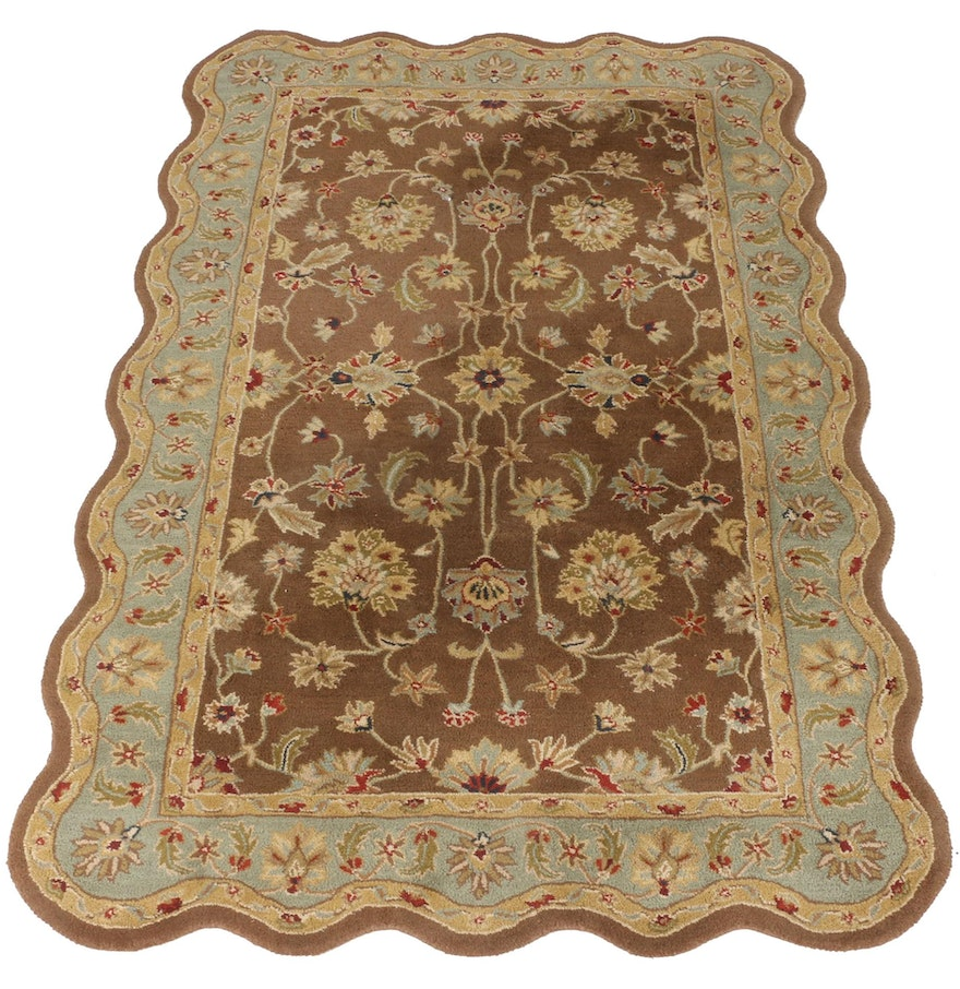 Machine made indian persian style area rug ebth for Home inspired by india rug