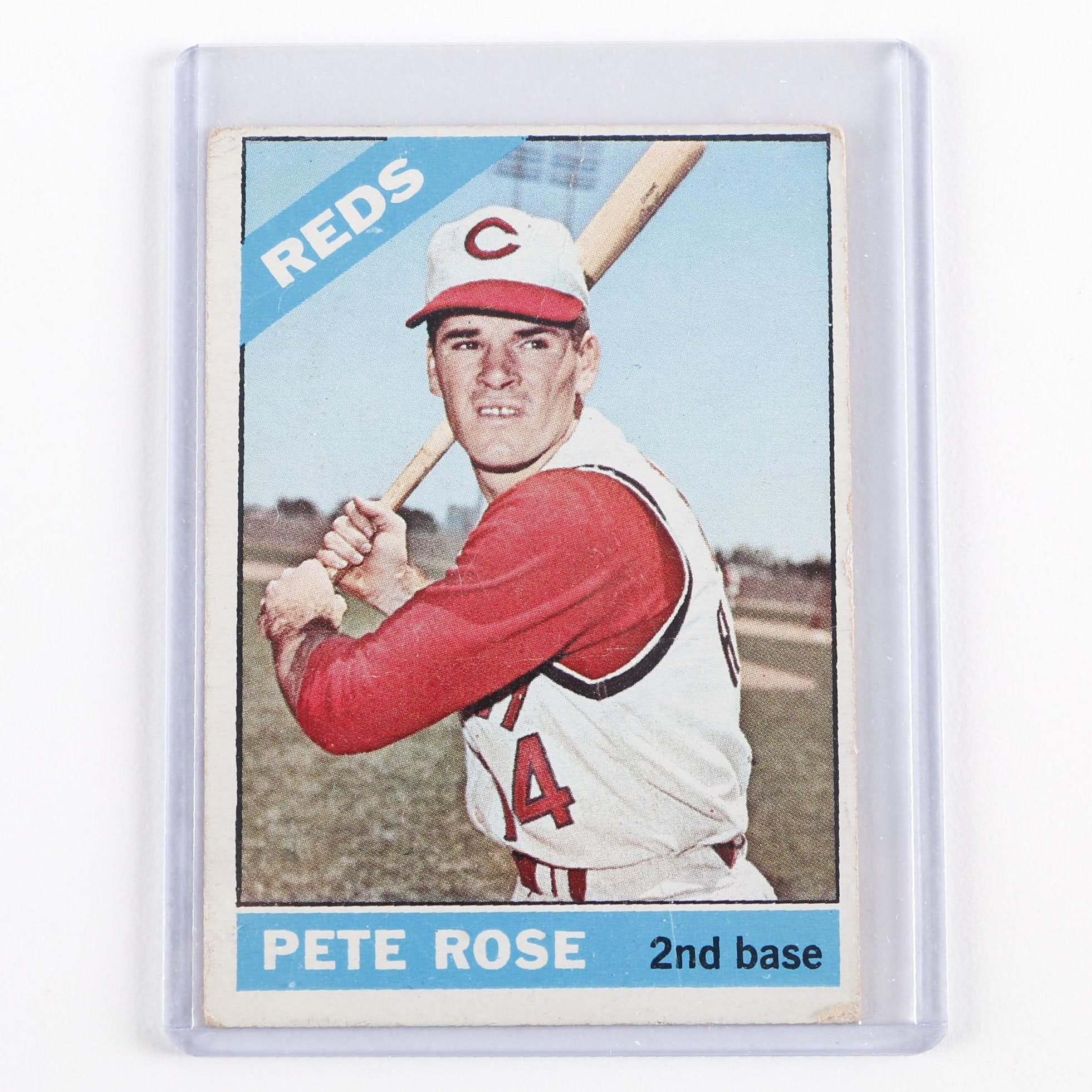 1966 Topps #30 Reds Pete Rose Card