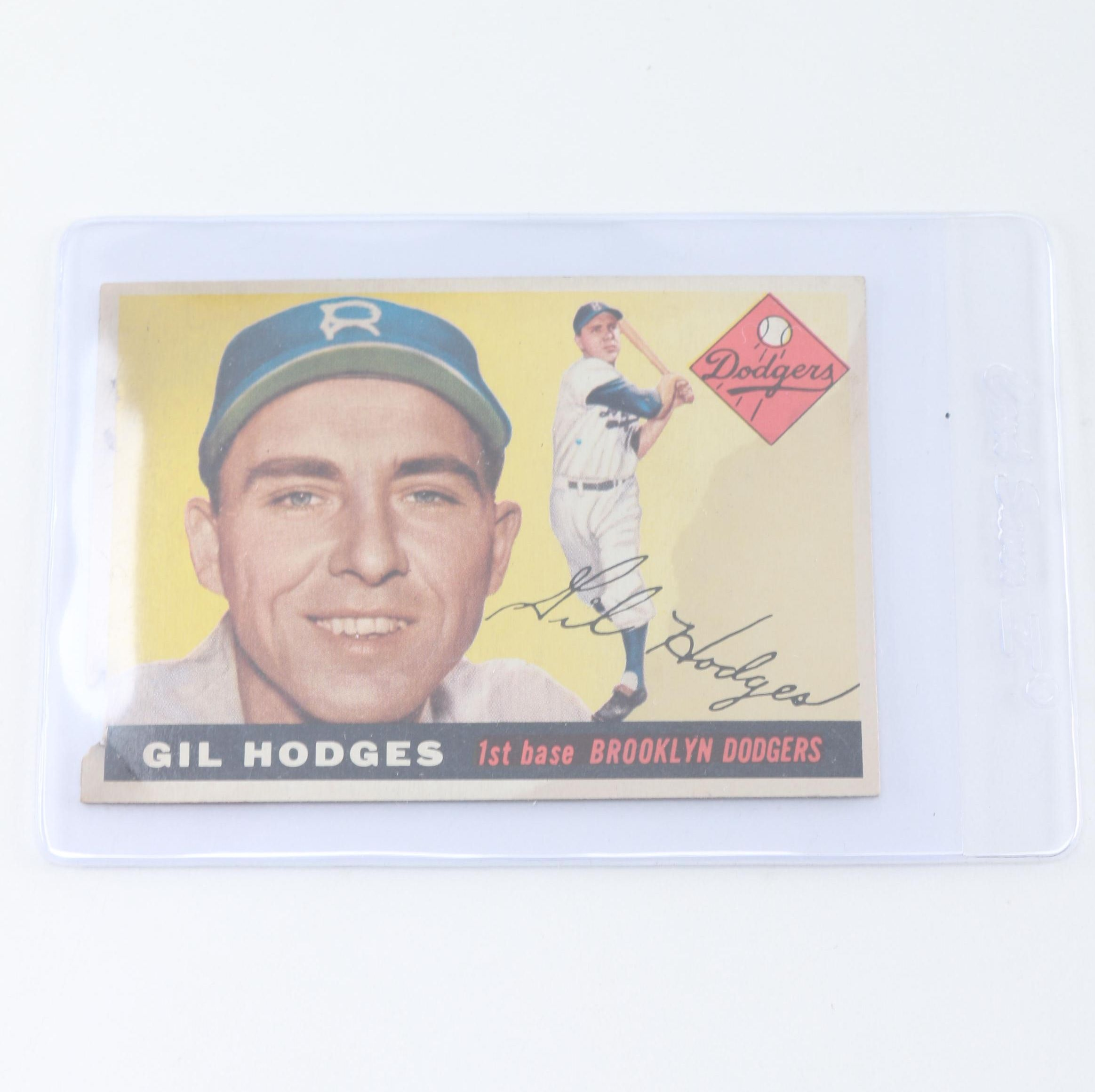 1955 Topps Gil Hodges Card