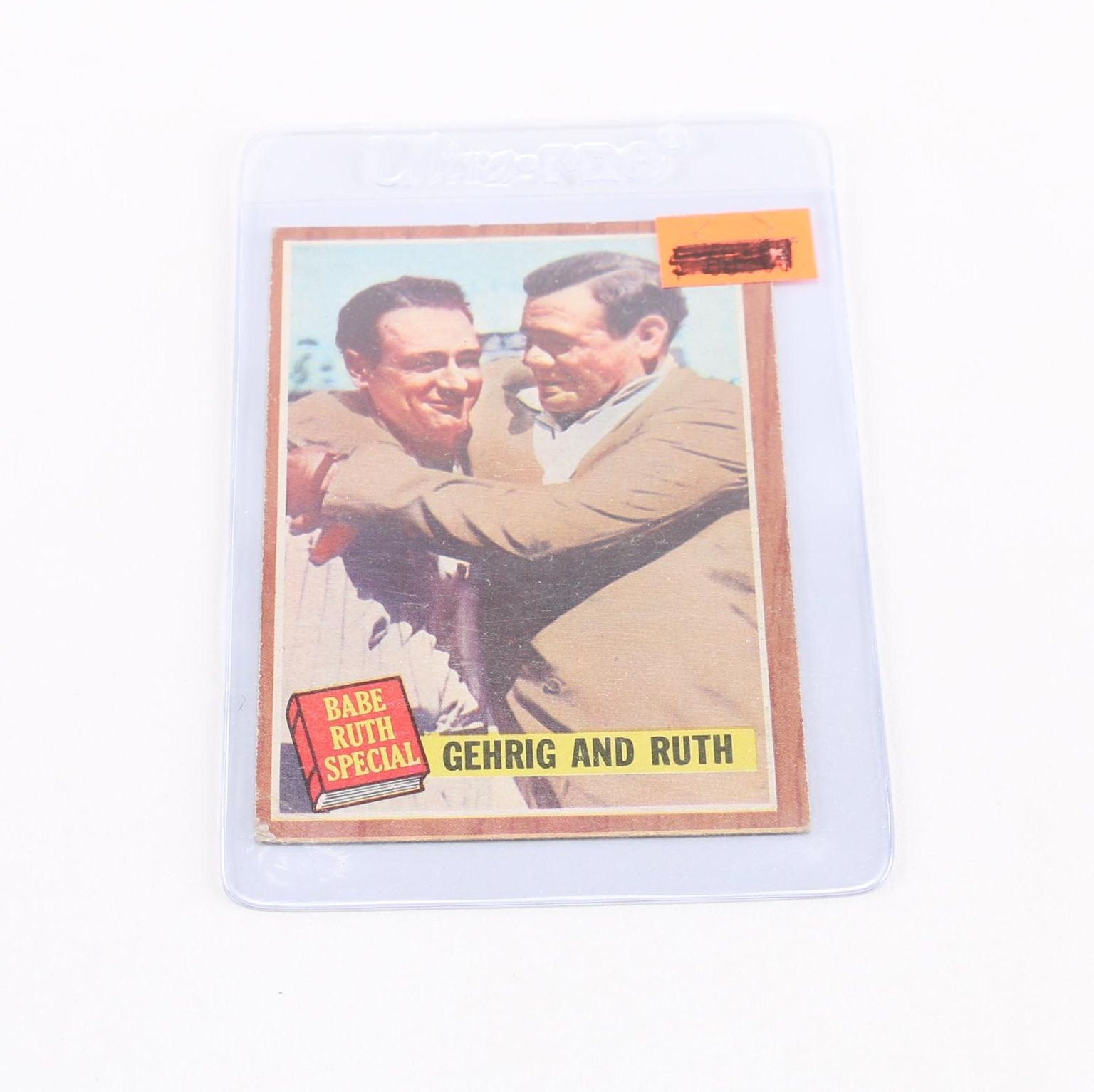 1962 Topps #140 Gehrig and Ruth Card
