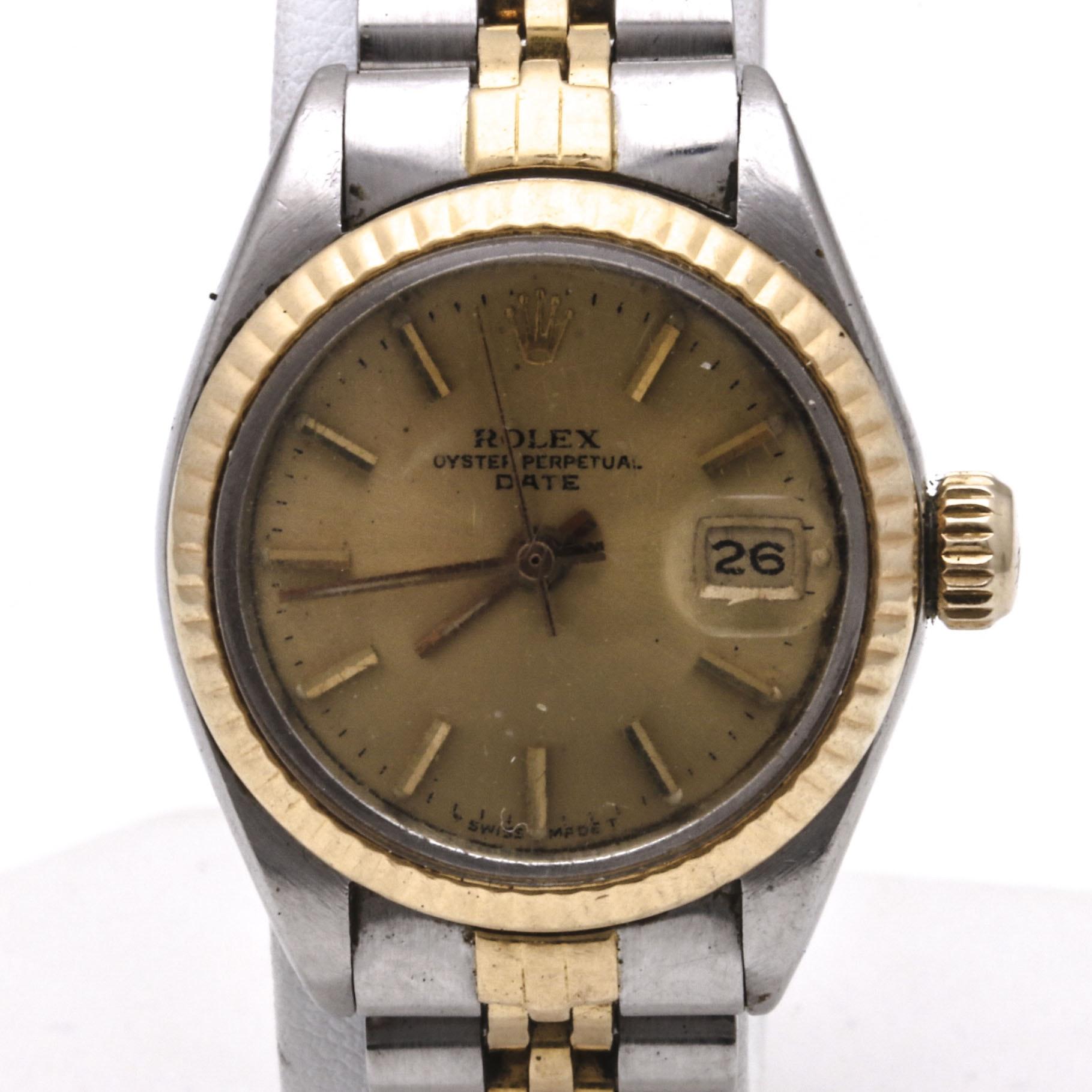 Women's Rolex Oyster Perpetual Date Wristwatch