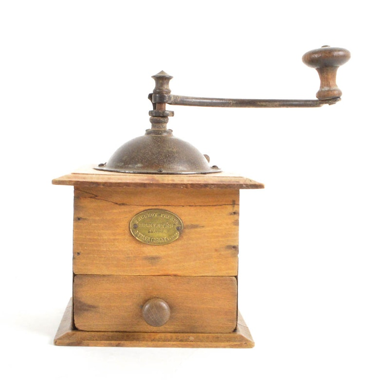 antique french coffee grinderpeugeot freres : ebth