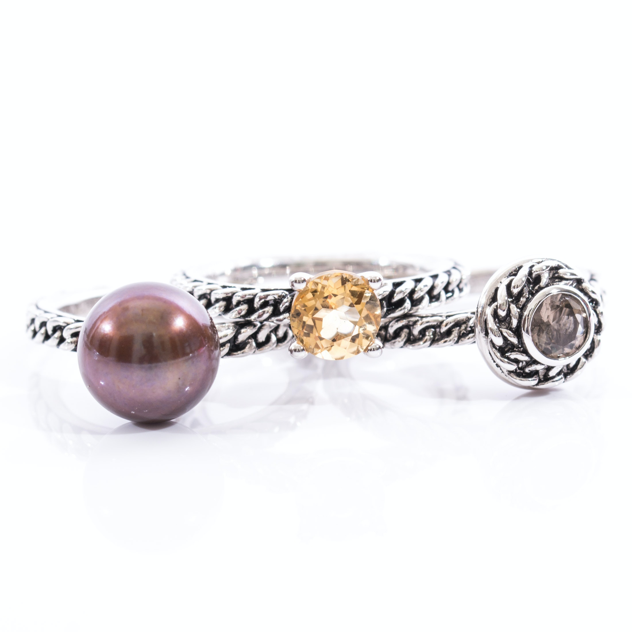 Sterling Silver Honora Stack Rings