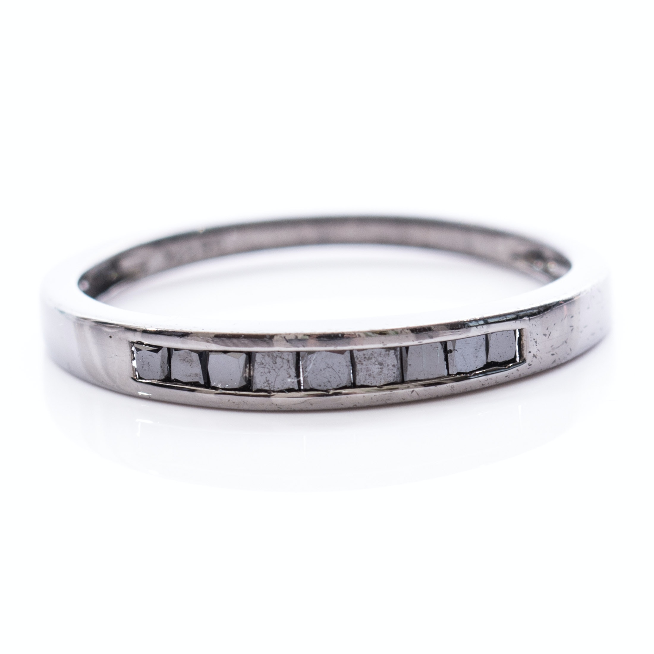 Sterling Silver Black Diamond Band