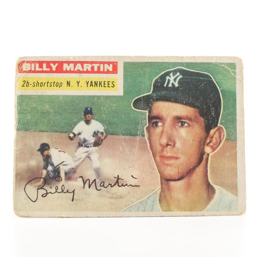 1956 Topps Billy Martin Baseball Card Number 181