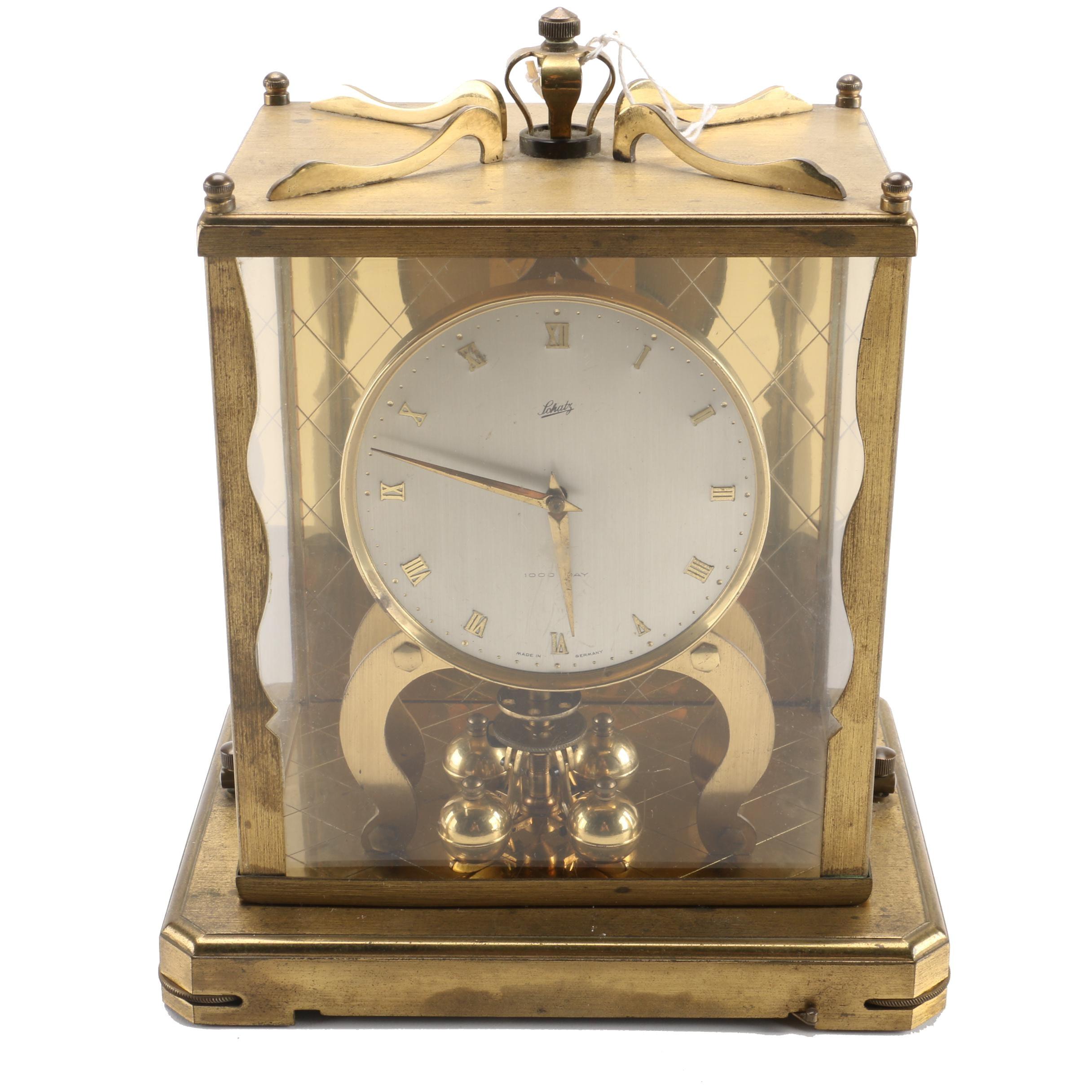 Mid-Century Schatz 1,000 Day German Clock
