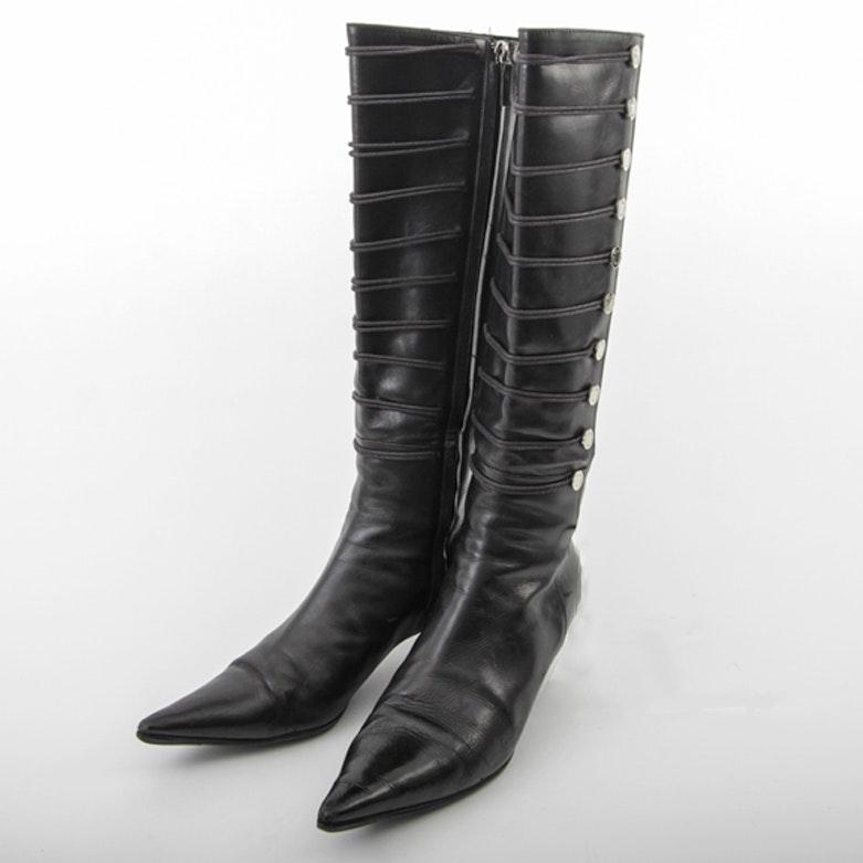 Oscar de la Renta Leather Boots