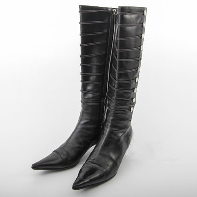 Oscar de la Renta Leather Boots