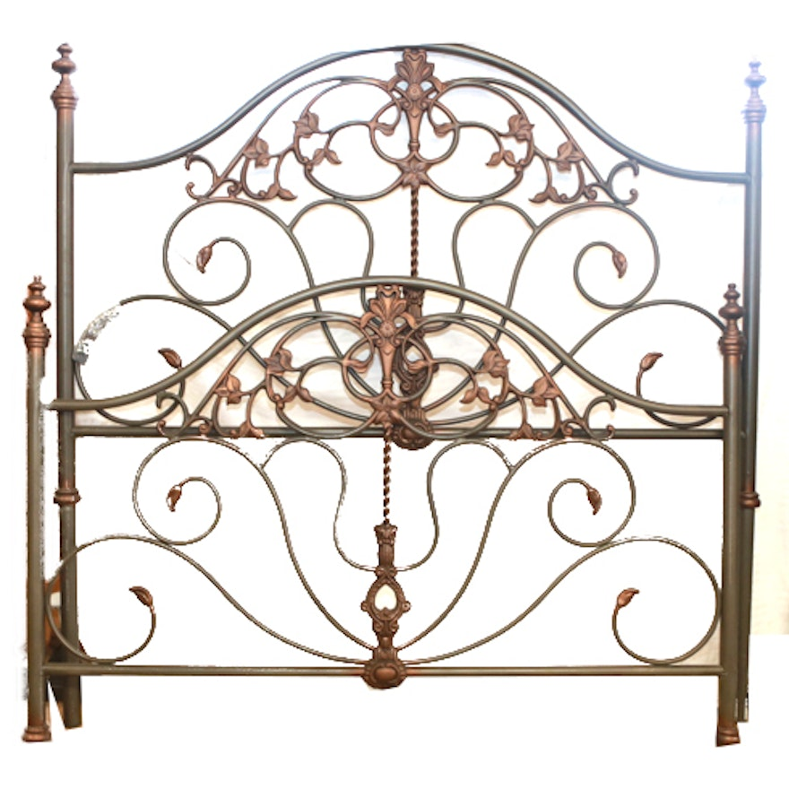 Powell Furniture Co. Queen Size Ornate Metal Bed Frame : EBTH