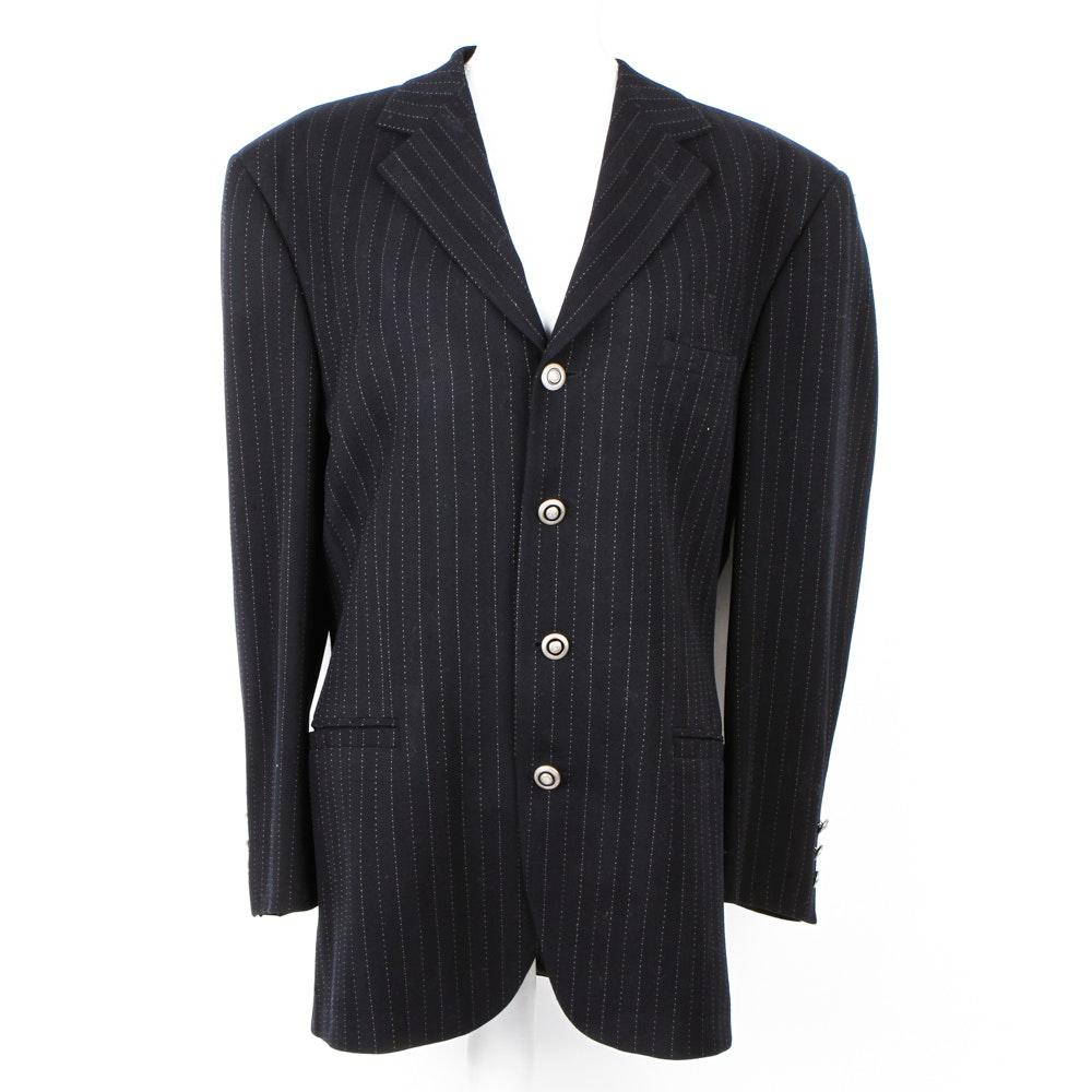 Men's Vintage Versace Oversized Striped Blazer