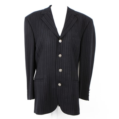 Men's Vintage Versace Oversized Striped Blazer