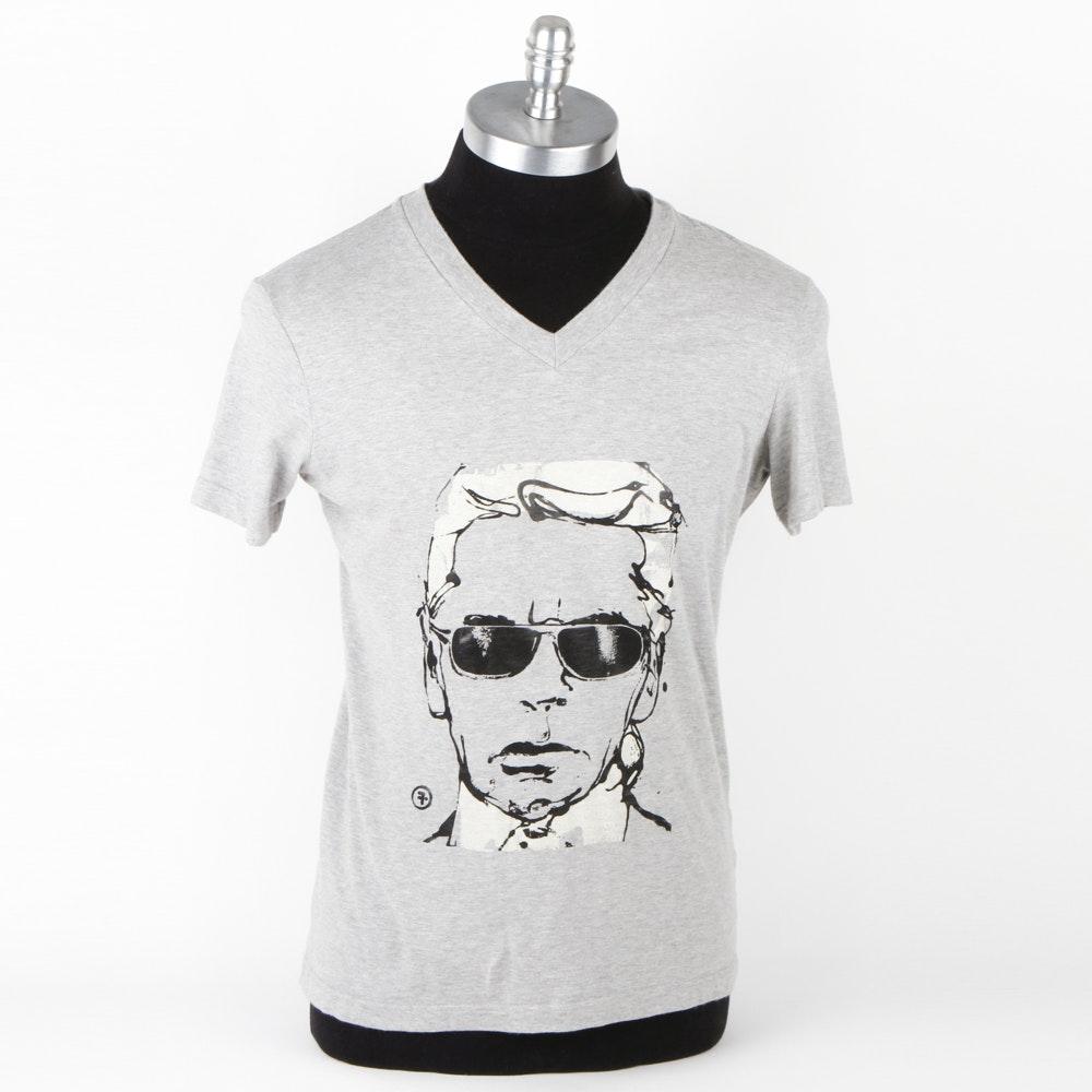 V-Neck Karl Lagerfeld T-Shirt