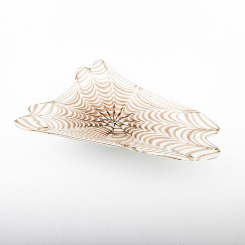 Handblown Murano Art Glass Bowl