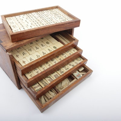 Antique Mahjong Set