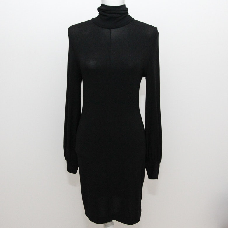 Balenciaga Black Turtleneck Dress