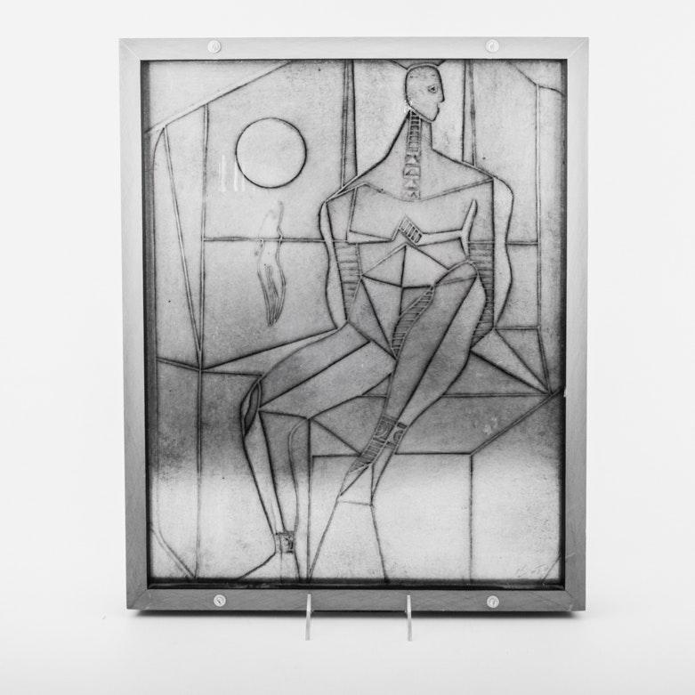Abstract Metallic Art Piece