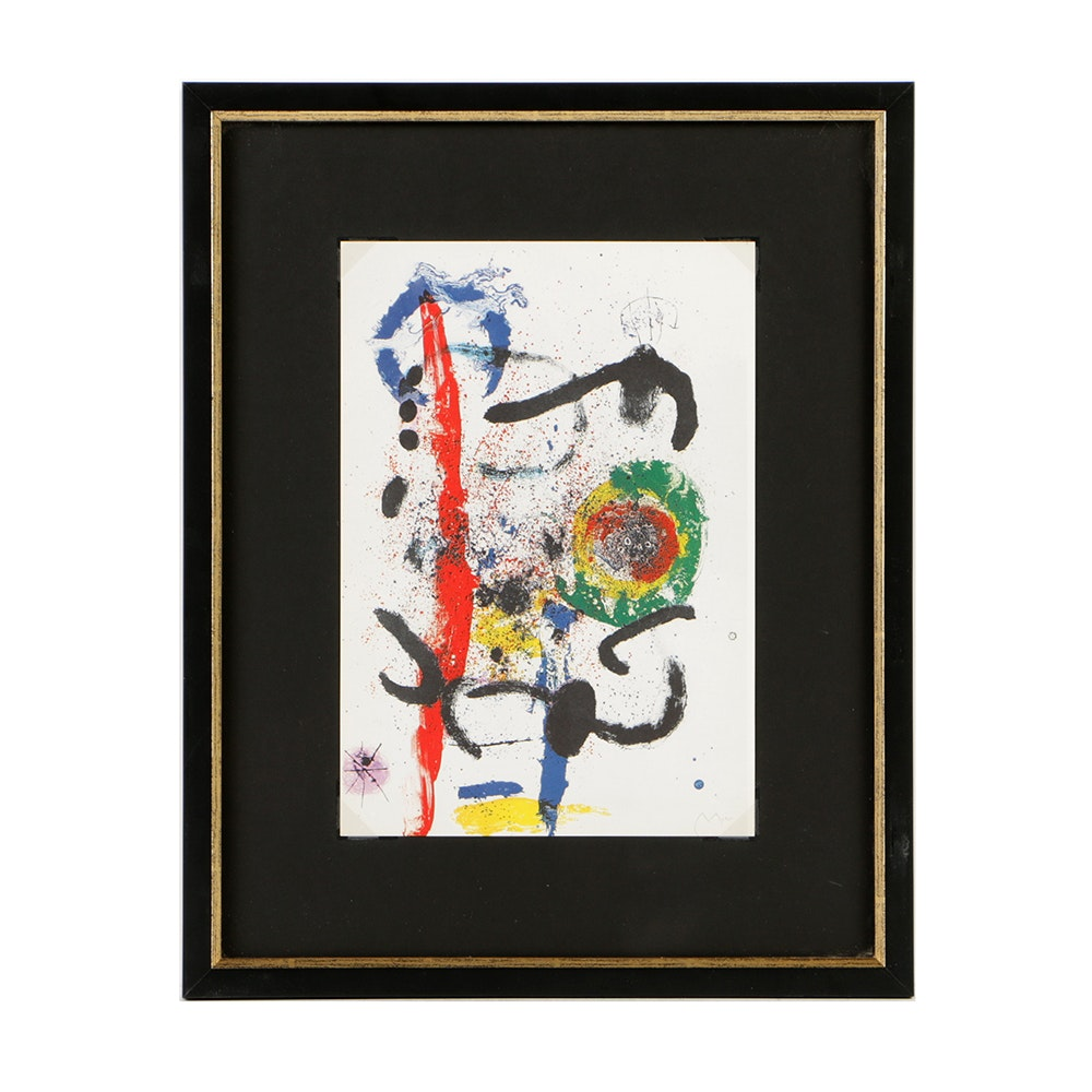 "After Joan Miro Offset Lithograph on Paper ""The Cascade"""