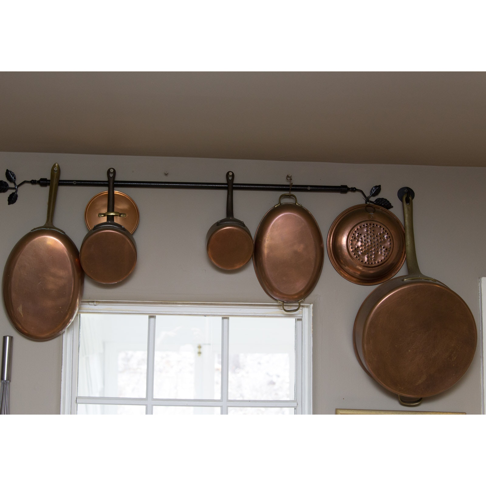 Vintage Copper Pan Set