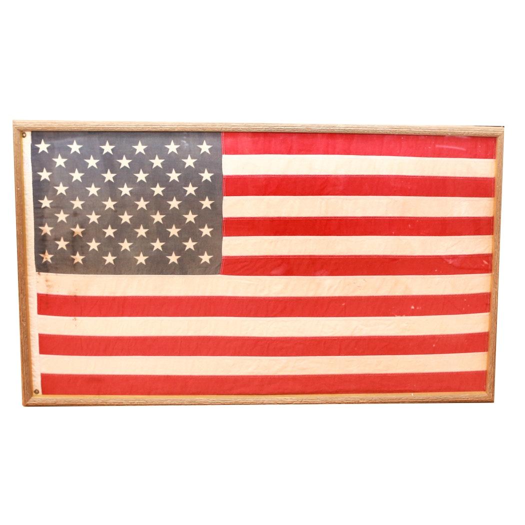 Vintage Framed American Flag