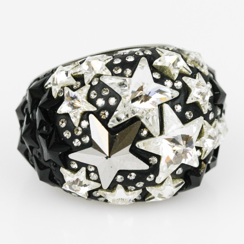 Swarovski Crystal Star Studded Dome Ring
