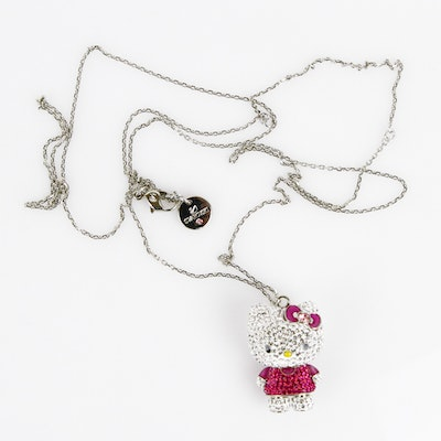 Sanrio Swarovski Crystal Hello Kitty Necklace
