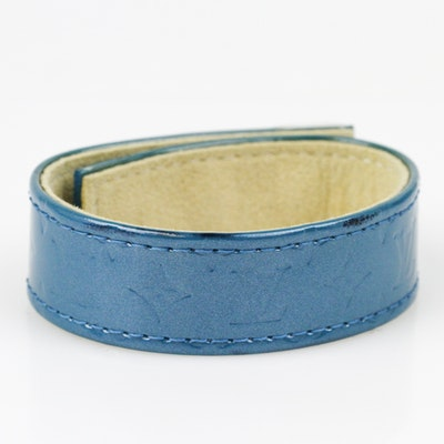 Louis Vuitton Turquoise Vernis Leather Bracelet