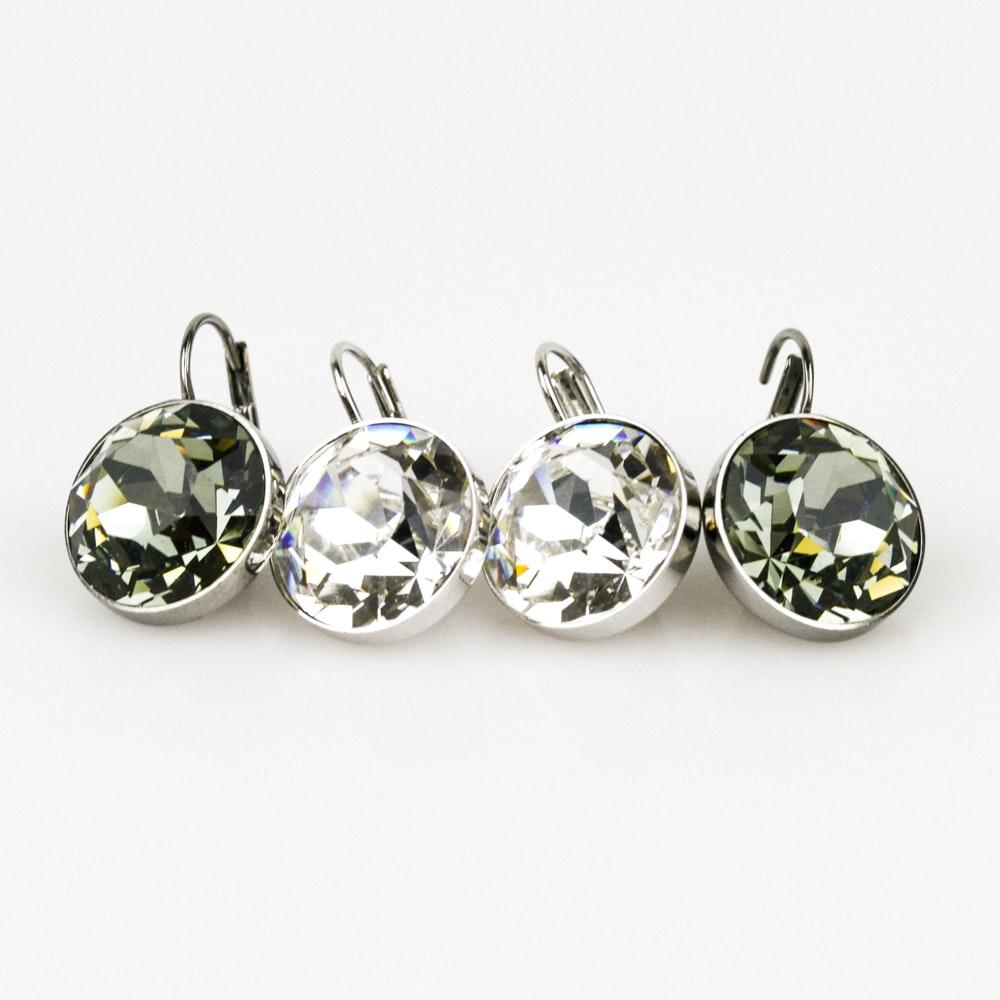 Two Pairs of Swarovski Crystal Earrings