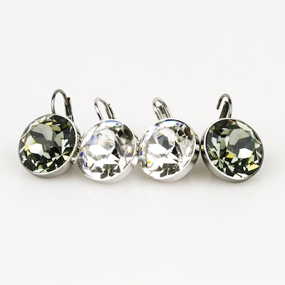 Two Pairs of Swarovski Crystal Earrings