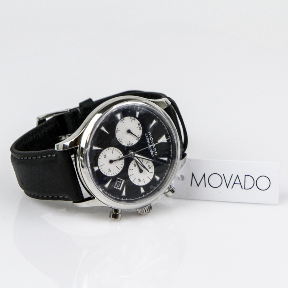 Men's Movado Heritage Series Calendoplan Chronograph Wristwatch