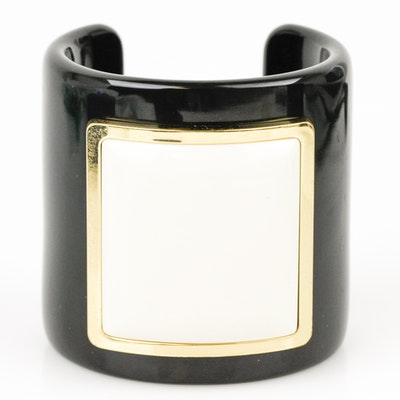 Tory Burch Black Lucite Cuff