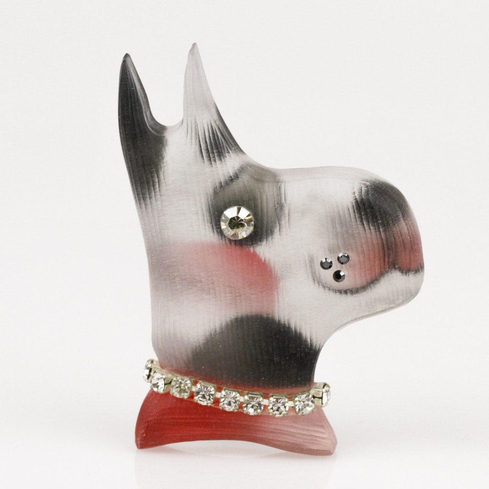 Handcrafted Alexis Bittar Dog Brooch